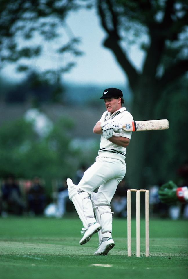 Undated:  Jeff Crowe of New Zealand in action during a Tour Match in England. \ Mandatory Credit: Adrian Murrell/Getty Images