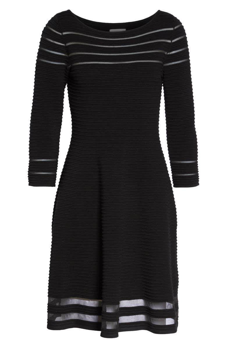 """<p><strong>Eliza J</strong></p><p>nordstrom.com</p><p><strong>$128.00</strong></p><p><a href=""""https://go.redirectingat.com?id=74968X1596630&url=https%3A%2F%2Fshop.nordstrom.com%2Fs%2Feliza-j-mesh-fit-flare-dress%2F4805757&sref=http%3A%2F%2Fwww.townandcountrymag.com%2Fstyle%2Ffashion-trends%2Fg26522706%2Fbest-dresses-for-older-women%2F"""" rel=""""nofollow noopener"""" target=""""_blank"""" data-ylk=""""slk:Shop Now"""" class=""""link rapid-noclick-resp"""">Shop Now</a></p><p>Dainty cutouts show a little skin in this pretty dress without being too revealing. </p>"""