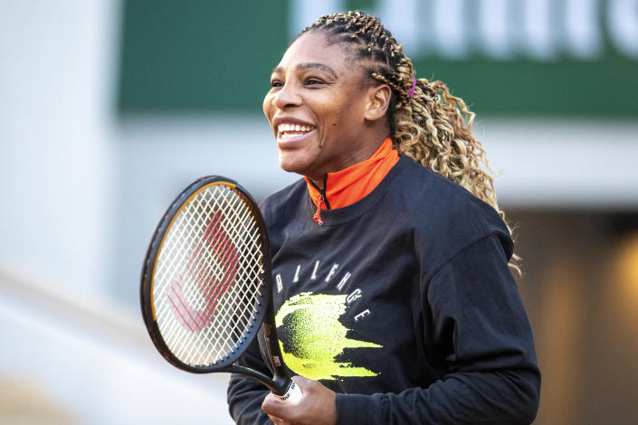 "Serena Williams is the latest star to accept the ""It's Tricky"" challenge on TikTok. (Photo: Tim Clayton/Corbis via Getty Images)"