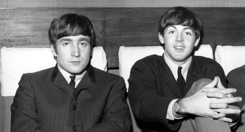John Lennon and Paul McCartney pictured on Nov. 1, 1963. (Photo: Fox Photos/Getty Images)