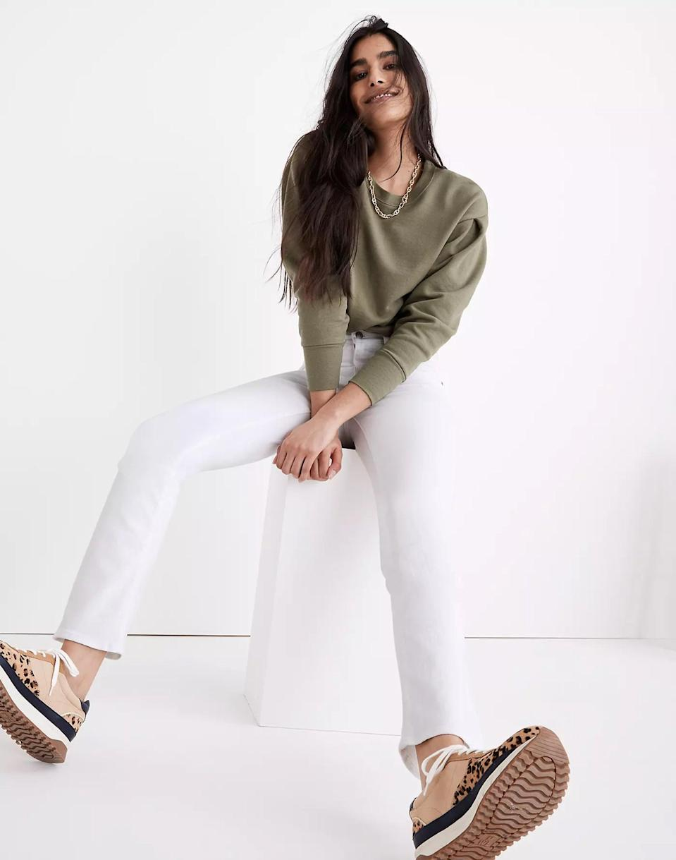 <p>The <span>Madewell Tall Cali Demi-Boot Jeans in Pure White</span> ($128) are among the best rated on the site - and you know Madewell does great denim. These have a slight flare and work really well with trainers, for all you sneakerheads!</p>