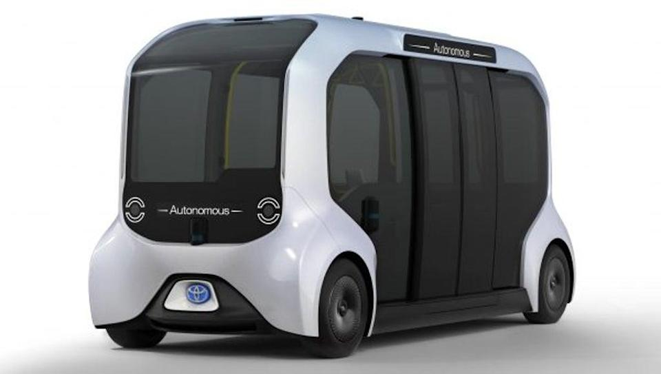 The e-Palette, a fully autonomous battery-electric vehicle, was adapted specifically for use during the Tokyo Olympic and Paralympic Games (Toyota)