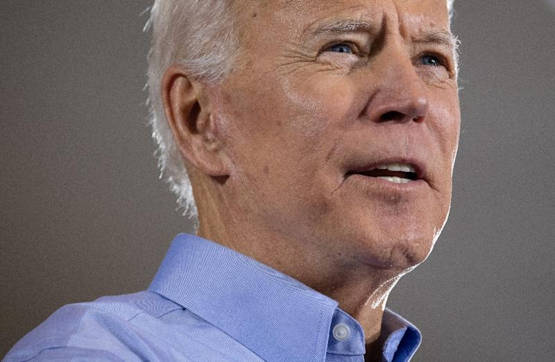 Former US vice president Joe Biden is in prime position leading the crowded 2020 Democratic nominations race ahead of his kickoff rally in Philadelphia, Pennsylvania (AFP Photo/SAUL LOEB)