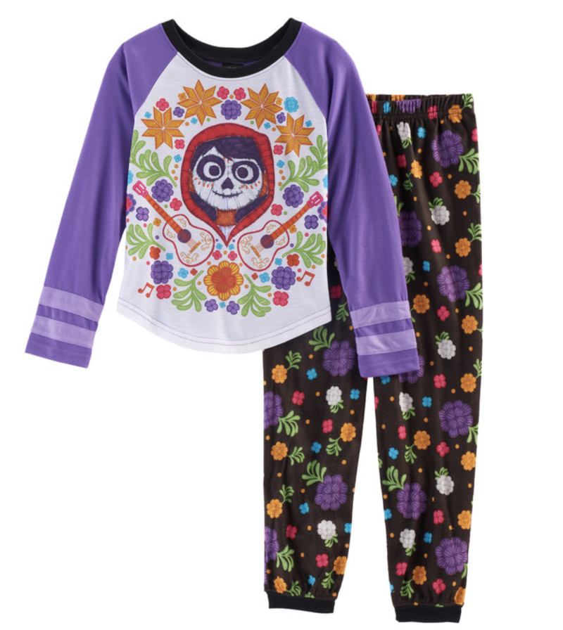 COCO Disney Girls Embellished Graphic Tie-Front Top