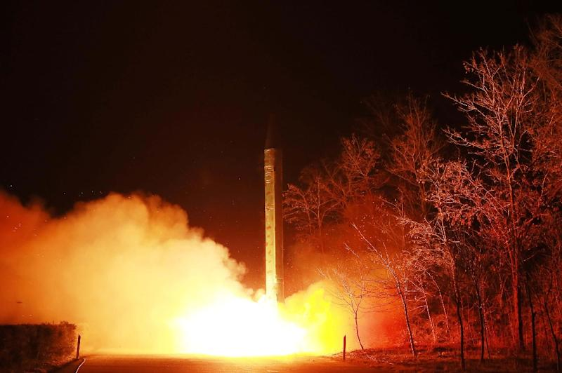 North Korea has conducted several missile tests in recent weeks as US-South Korea launch large-scale joint military exercises (AFP Photo/)