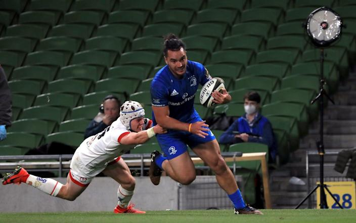 James Lowe knows his way to the try line - as he proved in the Pro14 final win against Ulster -James Lowe is Leinster's exuberant wing, 'worthy of an All Black jersey', with the ability to terrorise Saracens - PA
