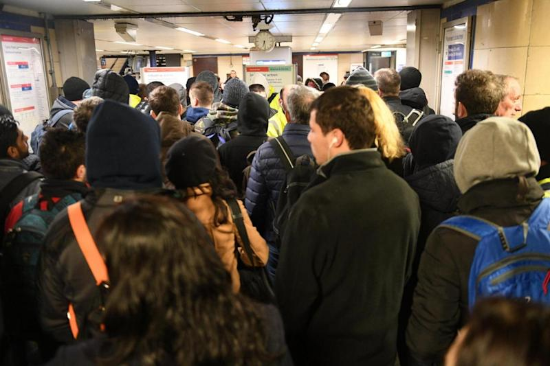 Chaos: Queues for buses at Leytonstone during a Tube strike in February (Jeremy Selwyn)