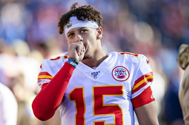 NFL MVP Patrick Mahomes impressed in his return from injury but his 418 passing yards weren't enough to lift the Kansas City Chiefs in an NFL loss to the Tennessee (AFP Photo/Wesley Hitt)