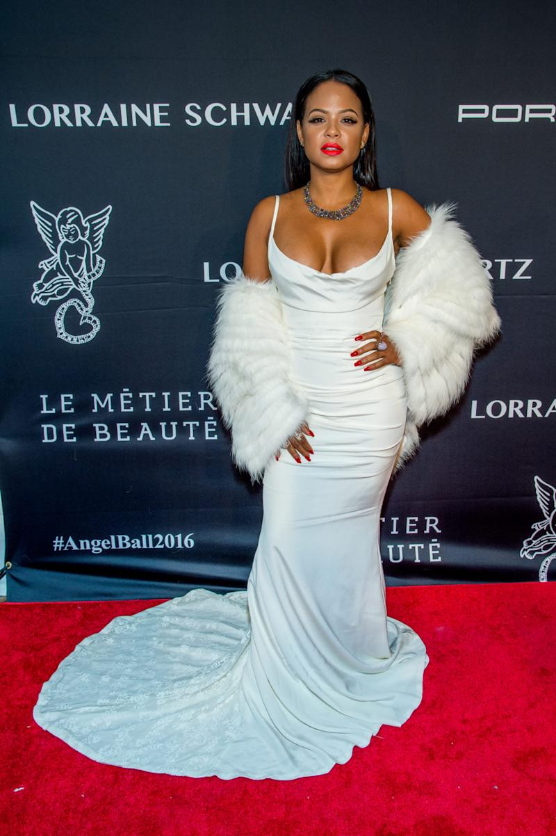 Christina Milian was serving up some Marilyn Monroe vibes on the red ...