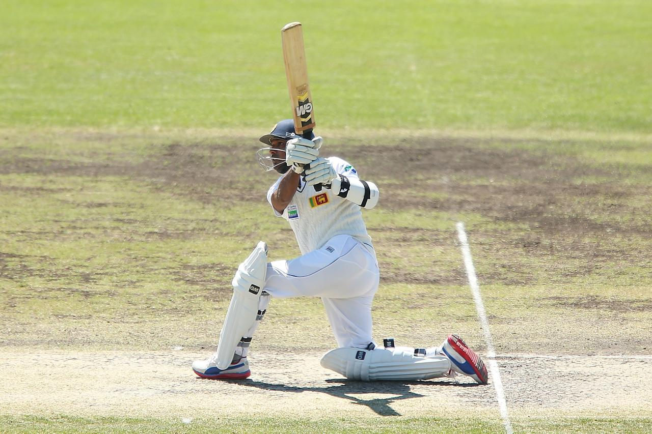 CANBERRA, AUSTRALIA - DECEMBER 08:  Prasanna Jayawardene of Sri Lanka bats during day three of the international tour match between the Chairman's XI and Sri Lanka at Manuka Oval on December 8, 2012 in Canberra, Australia.  (Photo by Brendon Thorne/Getty Images)