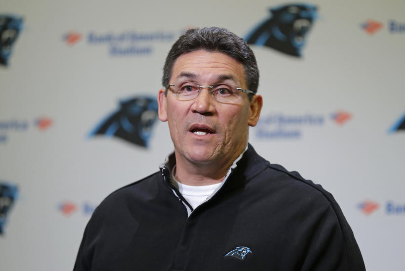 Ron Rivera proved he's better at coaching football than he is at curling. (AP)