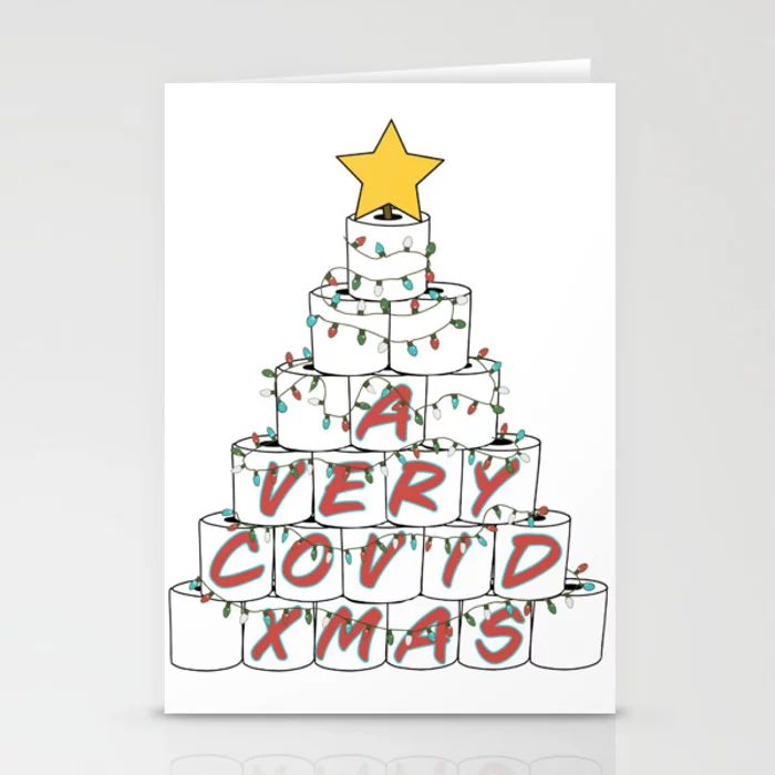 """<h3><strong>Society6</strong></h3> <br>If you're in the market for a more stylish and unique holiday greeting, Society6's colorful collection of original cards crafted by independent artists from around the globe are wow-worthy material.<br><br>Shop <a href=""""https://society6.com/collection/holiday-cards"""" rel=""""nofollow noopener"""" target=""""_blank"""" data-ylk=""""slk:Society6"""" class=""""link rapid-noclick-resp"""">Society6</a><br><br><strong>stinkpad</strong> A Very Rona Xmas Card (10), $, available at <a href=""""https://go.skimresources.com/?id=30283X879131&url=https%3A%2F%2Ffave.co%2F37vTviR"""" rel=""""nofollow noopener"""" target=""""_blank"""" data-ylk=""""slk:Society6"""" class=""""link rapid-noclick-resp"""">Society6</a>"""