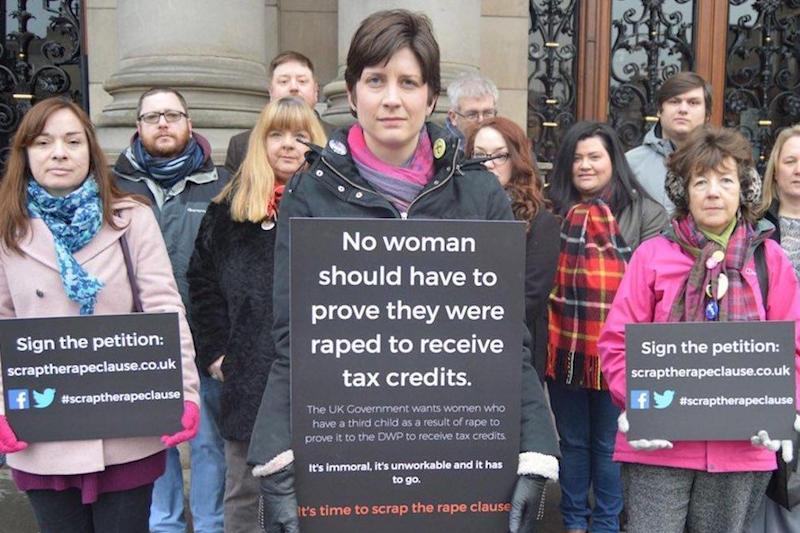 Outcry: SNP MP Alison Thewliss campaigning in Westminster