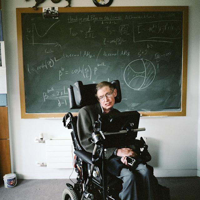 "<p>The British theoretical physicist Stephen Hawking, known for his groundbreaking work with black holes and relativity, and the author of several popular science books including ""A Brief History of Time,"" is pictured in Cambridge, England, Nov. 2, 2005. (Photo: Andrew Buurman/eyevine ZUMA Press) </p>"