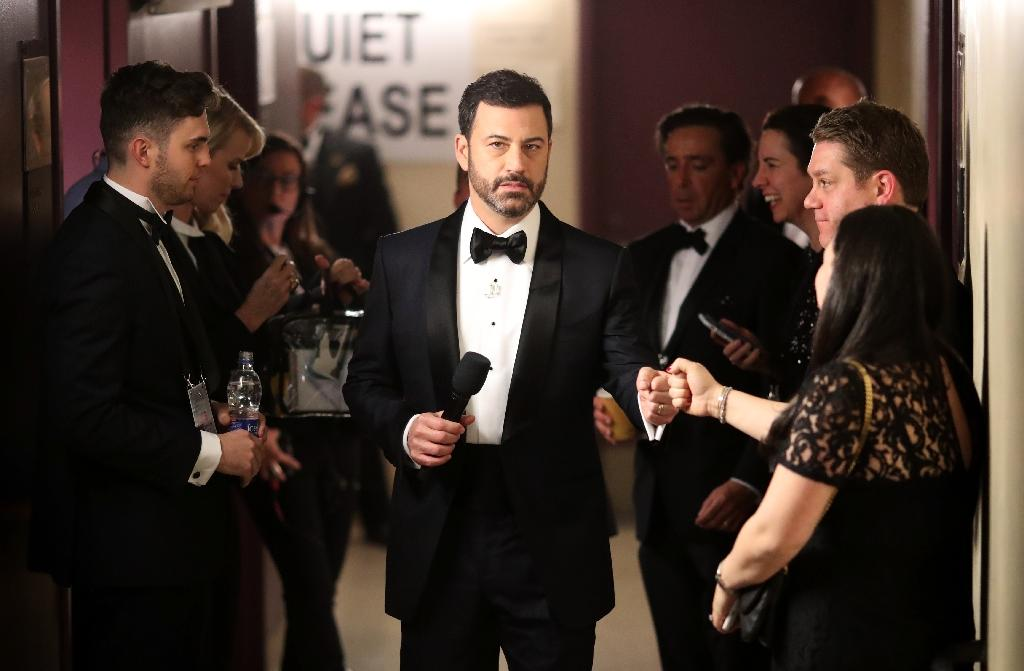 Late-night comedian Jimmy Kimmel has become a leading advocate for maintaining Obamacare (AFP Photo/Christopher Polk)