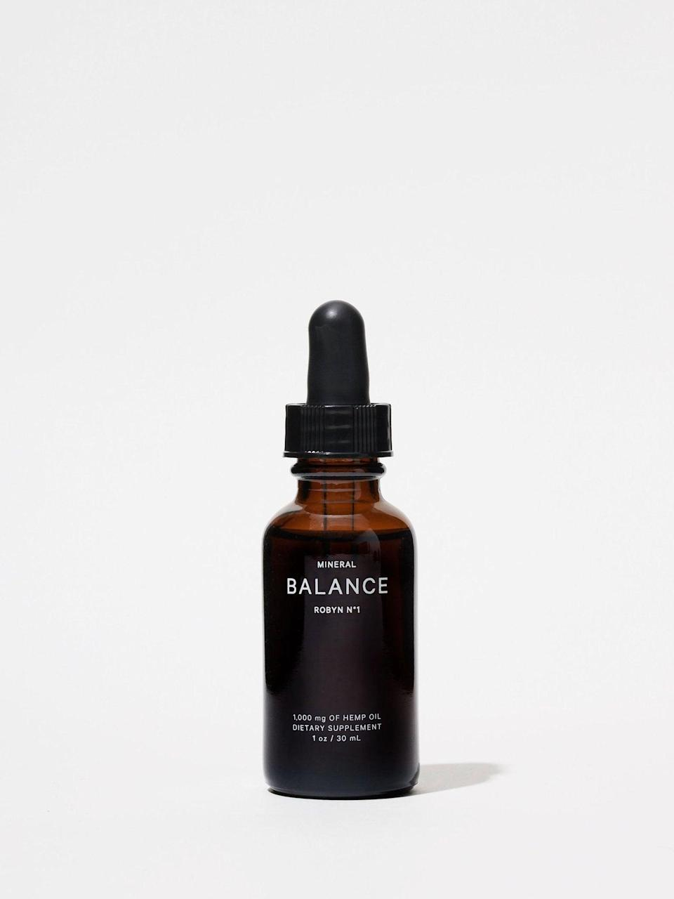 "<h3>Mineral Robyn for Balance<br></h3><br>This tincture contains 1000 mg of CBD per bottle, so consider this a pick for your more well-versed fan.<br><br><strong>Mineral</strong> Balance Tincture, $, available at <a href=""https://go.skimresources.com/?id=30283X879131&url=https%3A%2F%2Fstandarddose.com%2Fproducts%2Fmineral-balance-tincture-1"" rel=""nofollow noopener"" target=""_blank"" data-ylk=""slk:Standard Dose"" class=""link rapid-noclick-resp"">Standard Dose</a>"