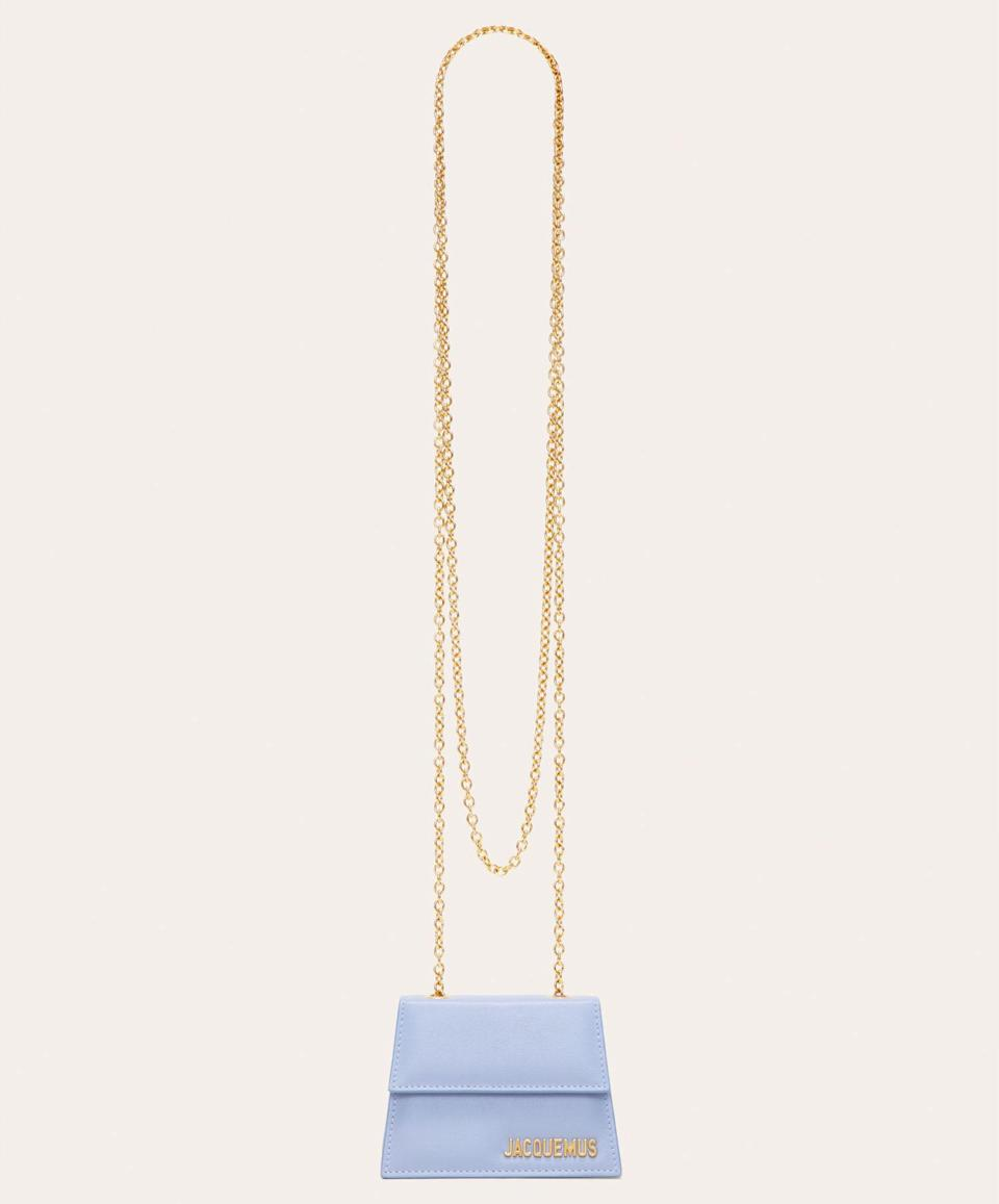 The 'Le Piccolo' bag comes with a cross-body chain so that makes it practical, right? Asking for a friend… [Photo: Jacquemus]