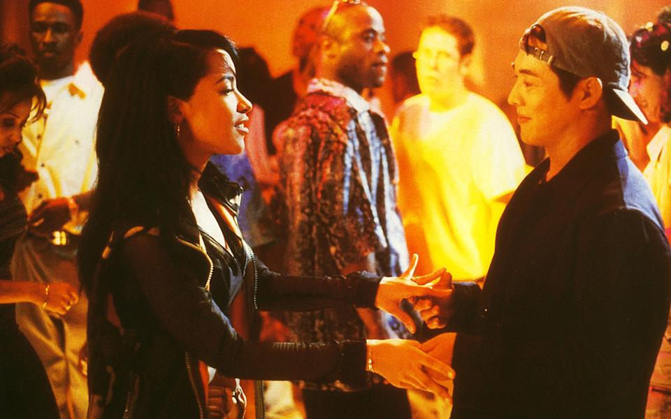 Aaliyah, pictured in a scene from Romeo Must Die, was at the height of her fame when she was tragically killed. Source: AP