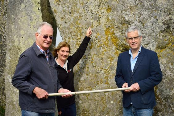 Return of the core from Stone 58 at Stonehenge to English Heritage in 2018 (English Heritage)