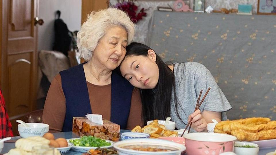 Zhao Shuzhen and Awkwafina in 'The Farewell' (A24)