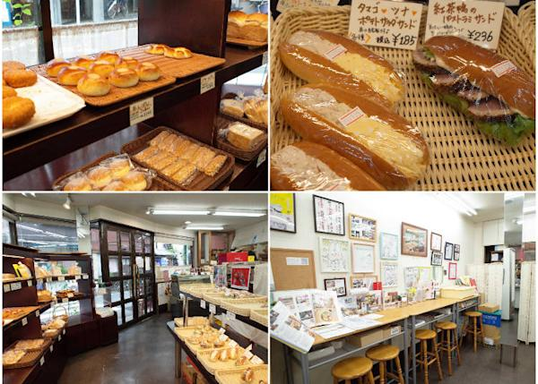 Upper right: tuna & egg sandwiches, the duck meat .sandwich is also good. The items quickly sell out during the afternoon on weekends.
