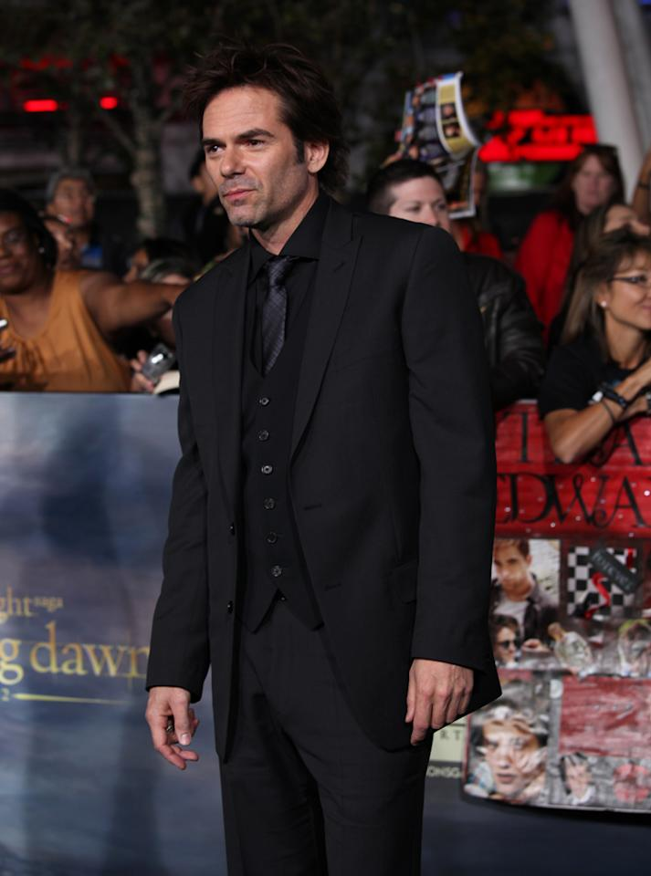 "Billy Burke arrives at ""The Twilight Saga: Breaking Dawn - Part 2"" Los Angeles premiere at the Nokia Theatre L.A. Live on November 12, 2012 in Los Angeles, California."