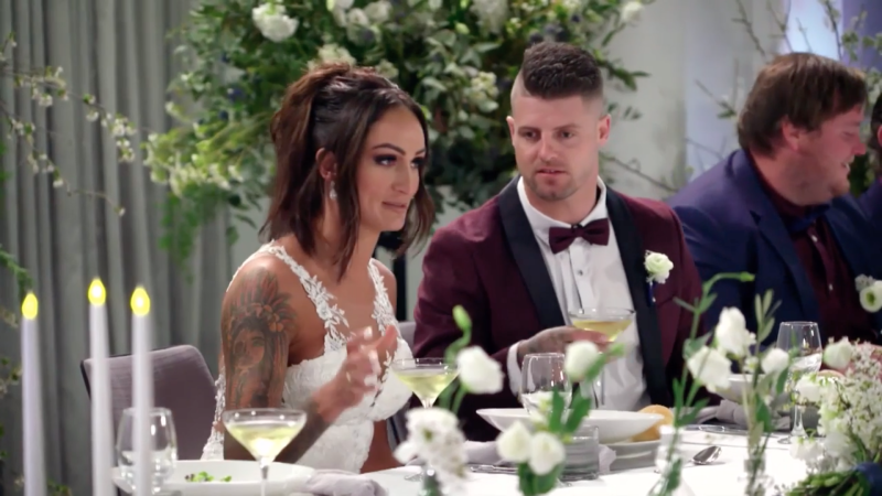 Hayley revealed more than intended discussing her wedding to David last night. Photo: Nine