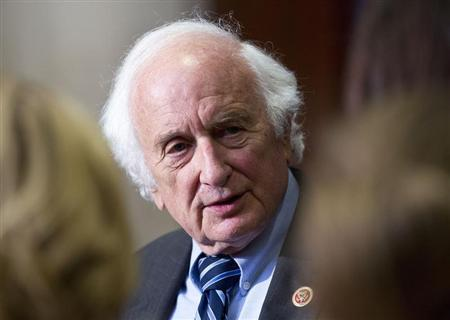 Levin speaks to the media after attending a closed meeting for members of Congress on Syria in Washington