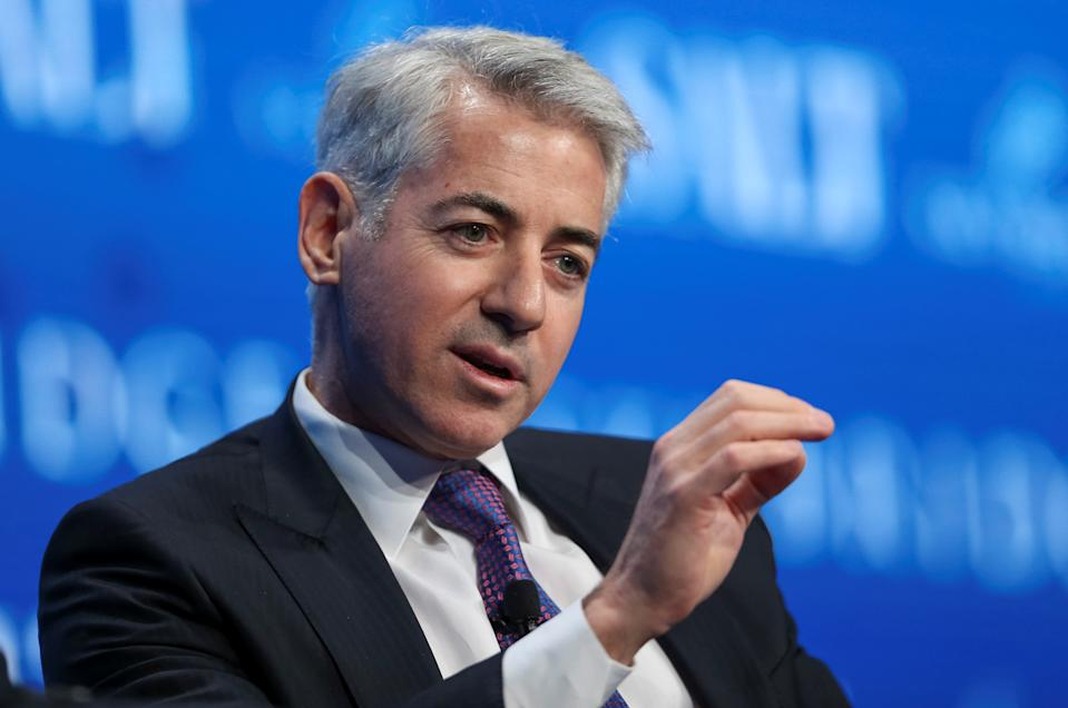 Bill Ackman, chief executive officer and portfolio manager at Pershing Square Capital Management, speaks during the SALT conference in Las Vegas, Nevada, U.S. May 18, 2017.  REUTERS/Richard Brian