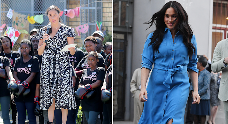 Meghan Markle's wardrobe on day one. [Photo: Getty]
