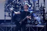 LAS VEGAS, NV - JUNE 20: Nickelback performs during the 2012 NHL Awards at the Encore Theater at the Wynn Las Vegas on June 20, 2012 in Las Vegas, Nevada. (Photo by Isaac Brekken/Getty Images)