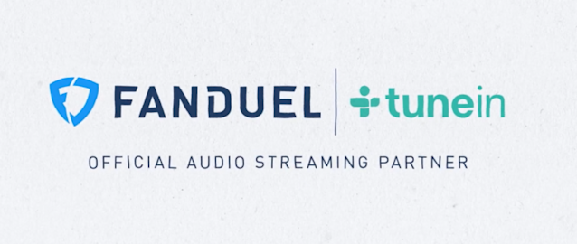 A screen from a promo video announcing FanDuel's deal with TuneIn.