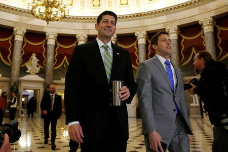 Ryan walks to the House floor as Congress considers health care legislation to repeal Obamacare at the U.S. Capitol in Washington