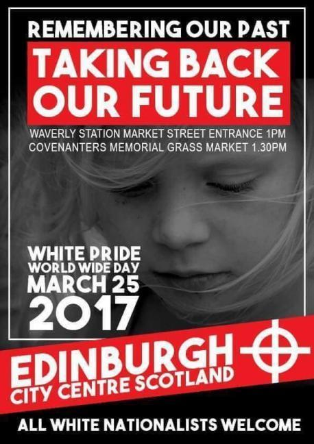 A flyer advertises the far-right White Pride march in Edinburgh (Twitter/British Action)