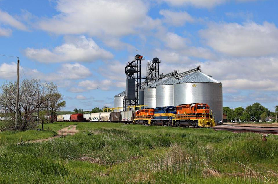 """<p>Another town that got its <a href=""""http://www.onlyinyourstate.com/south-dakota/town-name-meaning-sd/"""" rel=""""nofollow noopener"""" target=""""_blank"""" data-ylk=""""slk:name from a railroad official"""" class=""""link rapid-noclick-resp"""">name from a railroad official</a> during the late 1800s.</p><p><a href=""""https://flic.kr/p/Hsn24u"""" rel=""""nofollow noopener"""" target=""""_blank"""" data-ylk=""""slk:Photo by Jerry Huddleston via Flickr"""" class=""""link rapid-noclick-resp""""><em>Photo by Jerry Huddleston via Flickr</em></a></p>"""