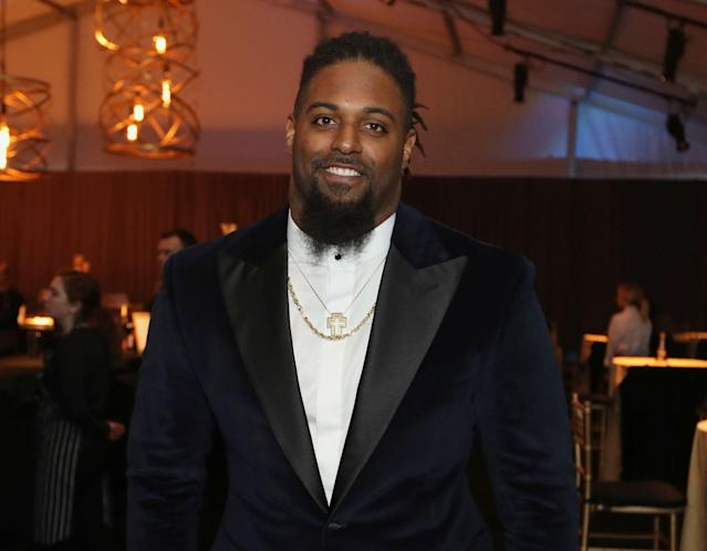New Orleans Saints DE Cameron Jordan and several teammates spent Wednesday helping New Orleans residents. (AP)