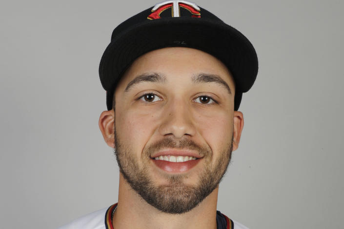 FILE - This is a 2020 file photo showing Alex Kirilloff of the Minnesota Twins baseball team. Alex Kirilloff has never played in a regular season major league game, but he is on track to become Minnesota's regular left fielder. (AP Photo/Brynn Anderson, File)