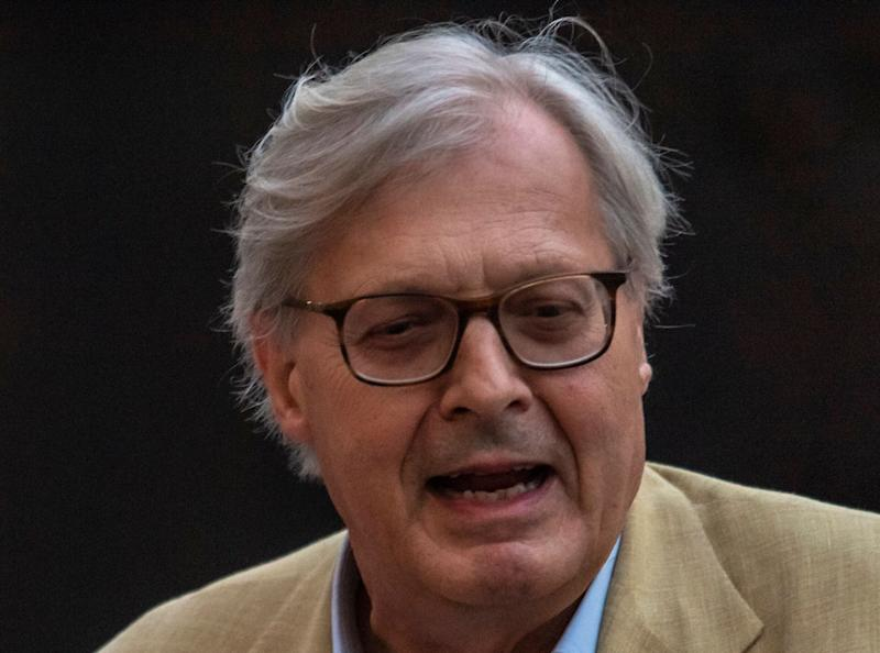 """MILAN, ITALY - JULY 27: Vittorio Sgarbi attends the presentation of the show """"Il Virus Che Ci Rende Folli"""" (The Virus That Drives Us Mad) of Bernard- Henry Lévy at the Milanesiana on July 27, 2020 in Milan, Italy. (Photo by Francesco Prandoni/Getty Images) (Photo: Francesco Prandoni via Getty Images)"""