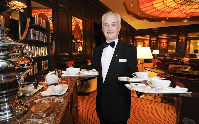 A tea sommelier at the Four Seasons hotel in Germany - Credit: Alamy