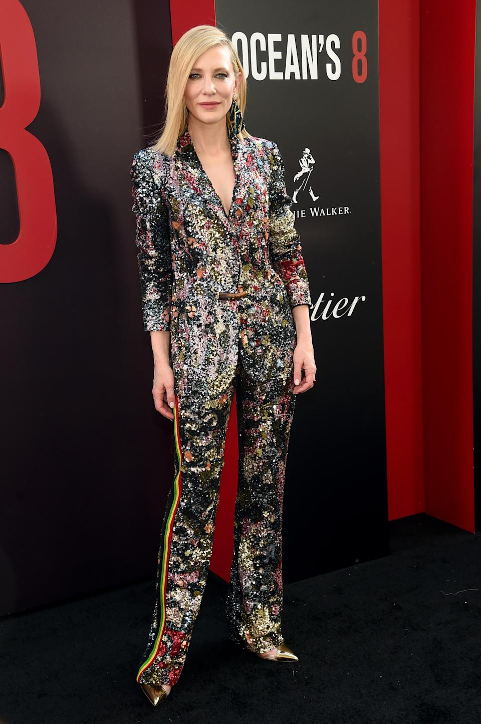 <p>Cate Blanchett joined her A-list co-stars on the red carpet in a glitzy co-ord by Missoni. <em>[Photo: Getty]</em> </p>