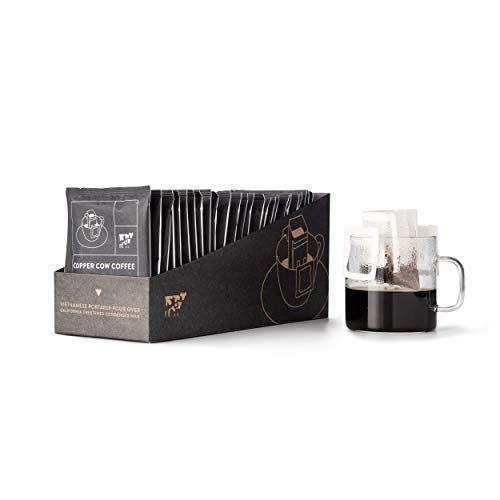 "<p><strong>Copper Cow Coffee</strong></p><p>amazon.com</p><p><strong>$39.97</strong></p><p><a href=""https://www.amazon.com/dp/B07VSV2D3B?tag=syn-yahoo-20&ascsubtag=%5Bartid%7C10067.g.23937264%5Bsrc%7Cyahoo-us"" rel=""nofollow noopener"" target=""_blank"" data-ylk=""slk:Shop Now"" class=""link rapid-noclick-resp"">Shop Now</a></p><p>For the traveling <a href=""https://www.townandcountrymag.com/leisure/drinks/g26064458/gifts-for-coffee-lovers/"" rel=""nofollow noopener"" target=""_blank"" data-ylk=""slk:coffee connoisseur"" class=""link rapid-noclick-resp"">coffee connoisseur</a> in your life, try this convenient option. The single servings of pour over Vietnamese coffee, is women-owned and sustainably-sourced Copper Cow Coffee. They'll be waving goodbye to their 4:00 PM coffee shop run, that's for sure. </p>"