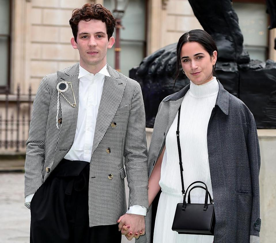 Josh O'Connor and partner Margot Hauer-King attend the Royal Academy of Arts Summer exhibition preview at Royal Academy of Arts on June 04, 2019 in London, England