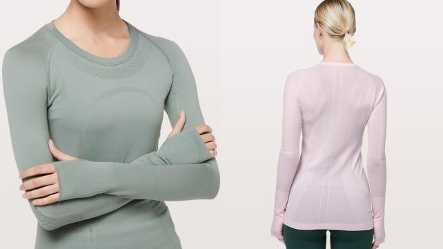 Survive your chilly spring runs in this top.