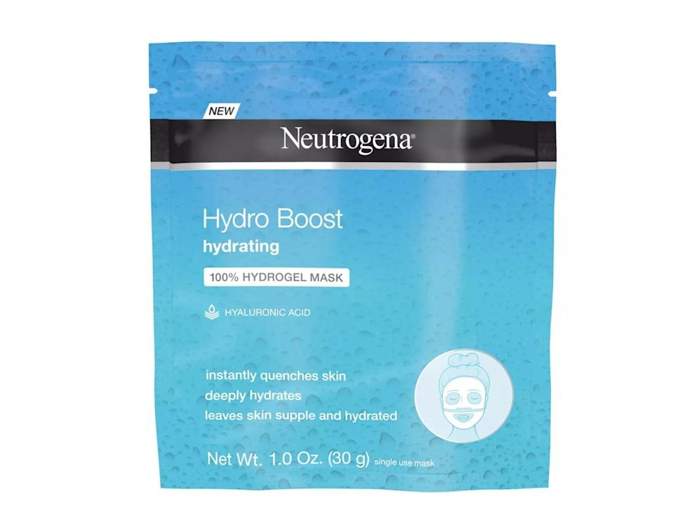 <p>Give yourself a hydration boost with the hydrogel-based <span>Neutrogena Moisturizing Hydro Boost Hydrating Face Mask</span> ($3).</p>