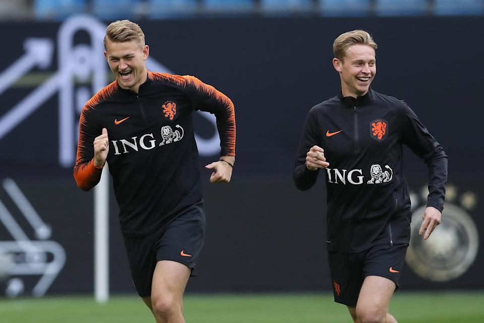 De Ligt and F. De Jong are set to feature on Sunday (Bongarts/Getty Images)