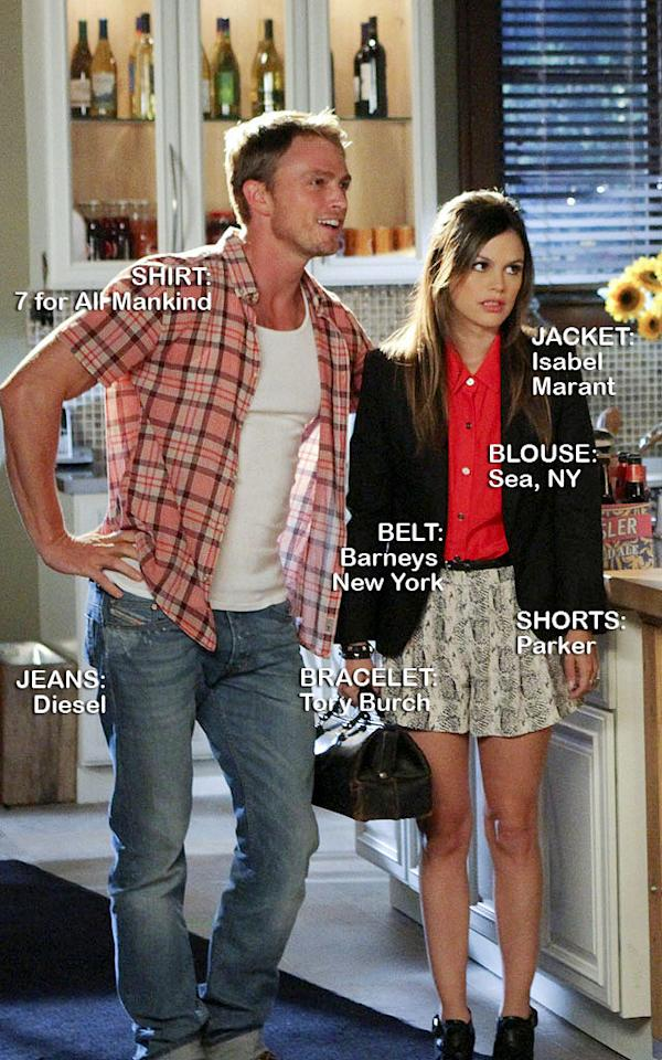 "<a>Wilson Bethel</a> as Wade Kinsella and <a>Rachel Bilson</a> as Dr. Zoe Hart in the Season 1 episode ""The Undead & the Unsaid."""