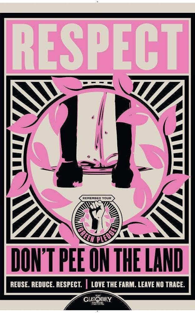 Poster by Glastonbury PR, re river pollution - News Scans
