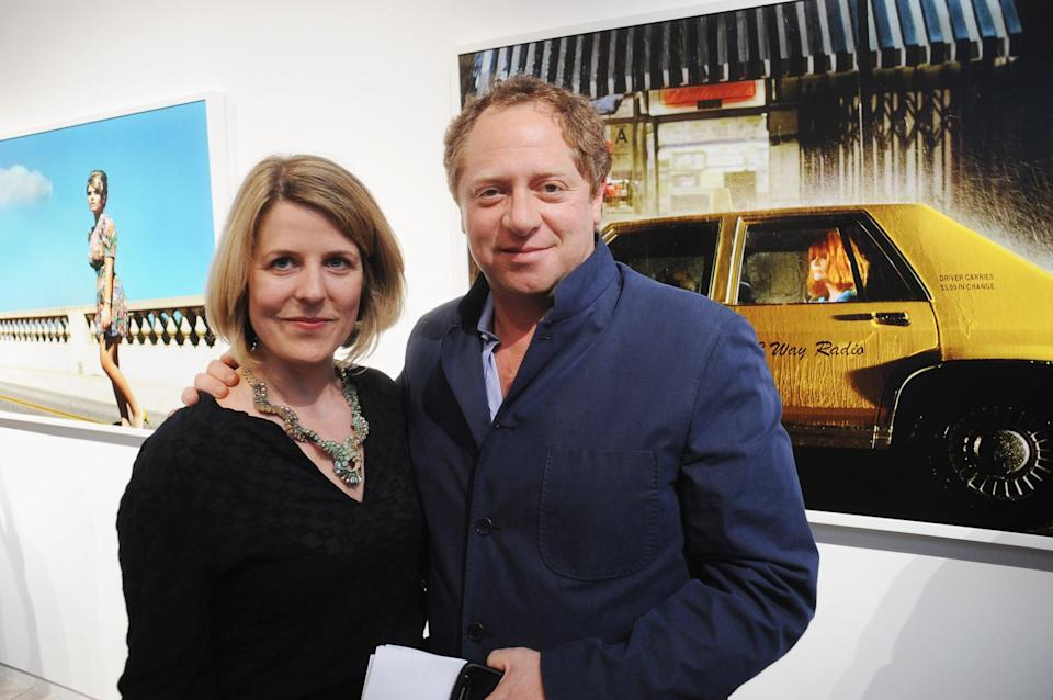 Gallery Director Charlotte Nation and Michael Hoppen attend the Alex Prager 'New Photography and Short Film' private view at the Michael Hoppen Contemporary Gallery on June 10, 2010 in London, England.   (Getty Images)