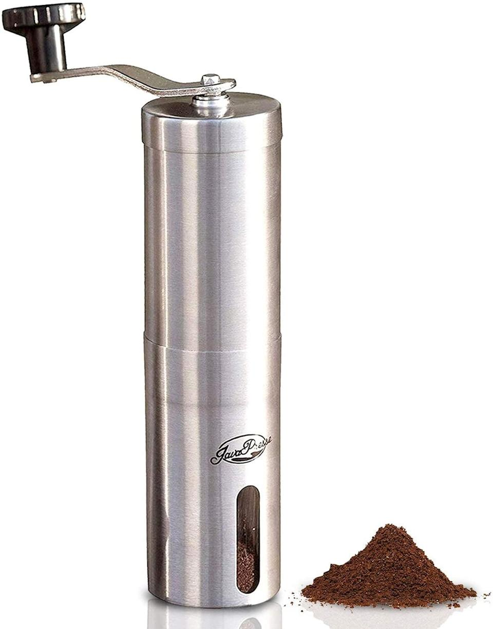 <p>She can control the coarseness of her coffee grounds with the <span>JavaPresse Manual Coffee Grinder with Adjustable Setting</span> ($40). She can truly enjoy the experience of brewing from scratch with this sleek coffee grinder.</p>