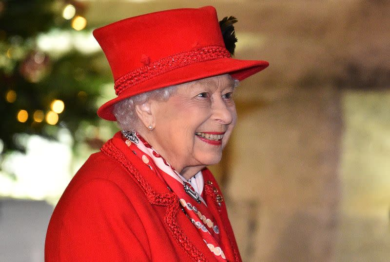 Britain's Queen Elizabeth and members of the Royal family thank local volunteers and key workers, in Windsor
